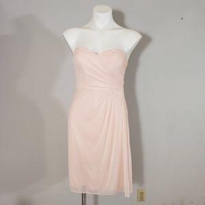David's Bridal Strappess Pink Dress